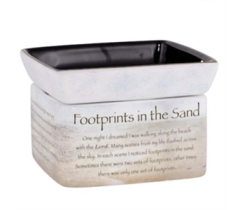 Footprints in the sand in Crown Point IN, Debbie's Designs