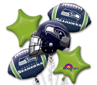 Seahawks balloon Bouquet in Edmonds WA, Dusty's Floral