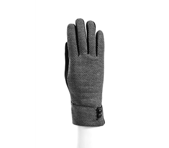Black/Grey Herringbone Glove Polyester in Indianapolis IN, Steve's Flowers and Gifts