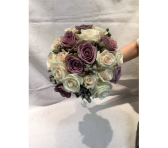 Dusty Purple Bouquet in Kingston NY, Flowers by Maria