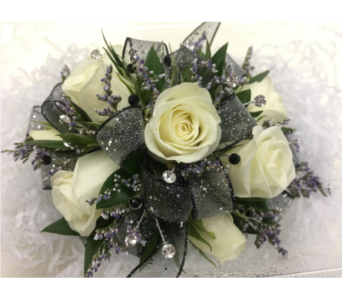 White Rose Corsage in Purcellville VA, Purcellville Florist