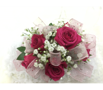 Hot Pink Rose Corsage in Purcellville VA, Purcellville Florist