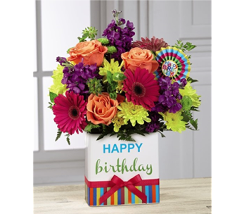 The Birthday Brights� Bouquet  in Chicago IL, Yera's Lake View Florist