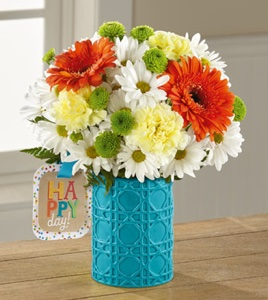 The Happy Day Birthday� Bouquet by Hallmark in Sapulpa OK, Neal & Jean's Flowers & Gifts, Inc.