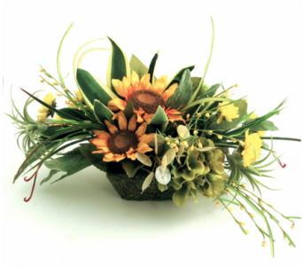 Silk Sunflower Arrangement in Richboro PA, Fireside Flowers
