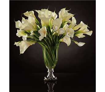 The Musings Luxury Calla Lily Bouquet by Vera Wang in Chicago IL, Yera's Lake View Florist