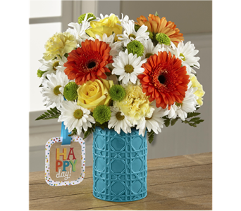 The Happy Day Birthday� Bouquet by Hallmark in Chicago IL, Yera's Lake View Florist