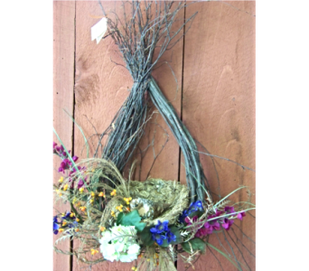 TEARDROP WREATH in Claremont NH, Colonial Florist