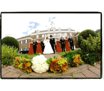 White Roses with Fall Bridesmaids in Freehold NJ, Especially For You Florist & Gift Shop
