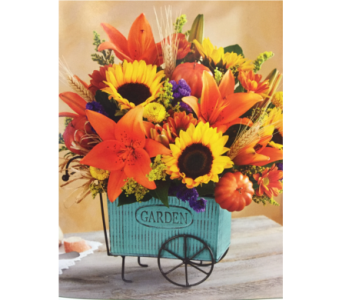 Harvest Garden Cart in Kissimmee FL, Golden Carriage Florist