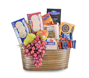 Cheese, Cracker and Fruit Delight in Schaumburg IL, Deptula Florist & Gifts