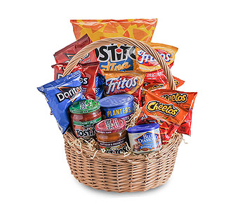 Snack Basket in Holladay UT, Brown Floral