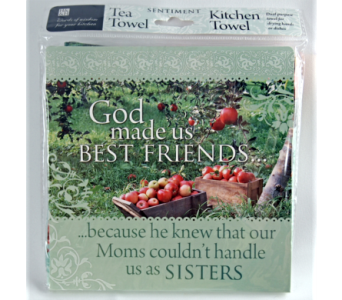 Tea Towel - God Made Us Friends in Alliston, New Tecumseth ON, Bern's Flowers & Gifts