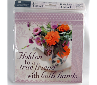 Tea Towel - Hold On To A Friend in Alliston, New Tecumseth ON, Bern's Flowers & Gifts