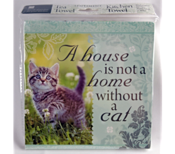 Tea Towel - Home Cat in Alliston, New Tecumseth ON, Bern's Flowers & Gifts