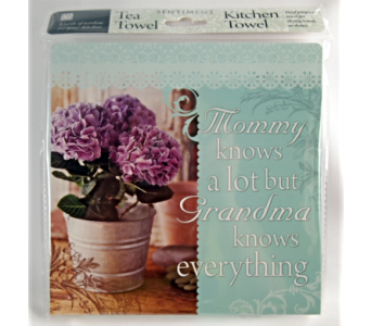 Tea Towel - Mommy Knows A Lot in Alliston, New Tecumseth ON, Bern's Flowers & Gifts