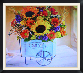 Fall Garden Cart in Tyler TX, The Flower Box
