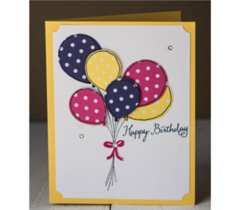 Happy Birthday Balloons Card  in Granite Bay & Roseville CA, Enchanted Florist
