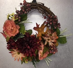 Petite Fall Wreath in Elyria OH, Botamer Florist & More