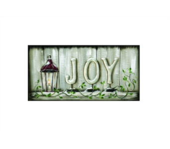 Lighted Joy Canvas in Tampa FL, Buds, Blooms & Beyond