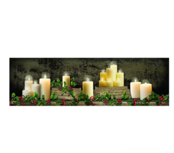 Lighted Large Christmas Mantel of Candles in Tampa FL, Buds, Blooms & Beyond