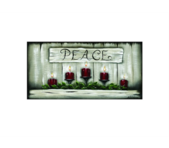 Lighted Peace Canvas in Tampa FL, Buds, Blooms & Beyond