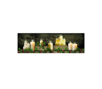 Lighted Small Christmas Mantel of Candles in Tampa FL, Buds, Blooms & Beyond