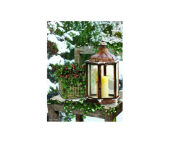 Lighted Winter Lantern Canvas in Tampa FL, Buds, Blooms & Beyond
