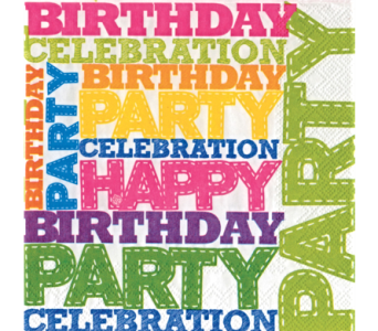 Napkins - Birthday Party, Lunch Size in Alliston, New Tecumseth ON, Bern's Flowers & Gifts
