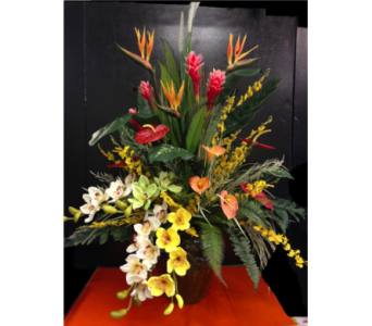 Permanent Botanical Large Tropical in Kissimmee FL, Golden Carriage Florist