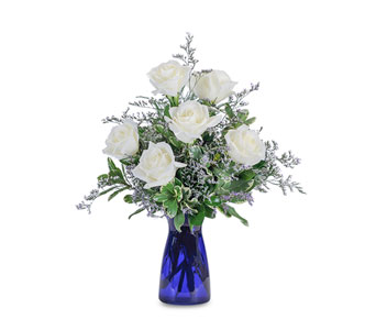 Roses in Blue in Chesterton IN, The Flower Cart, Inc