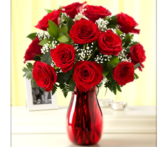 EVERYDAY DOZEN RED ROSE BOUQUET in Columbia TN, Douglas White Florists