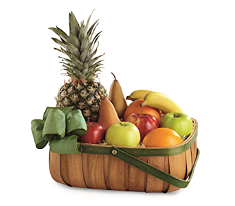 The FTD Thoughtful Gesture Fruit Basket in Holladay UT, Brown Floral