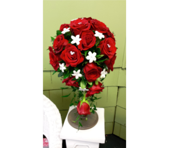 Red Rose Teardrop with Mickey Mouse Gems in Freehold NJ, Especially For You Florist & Gift Shop