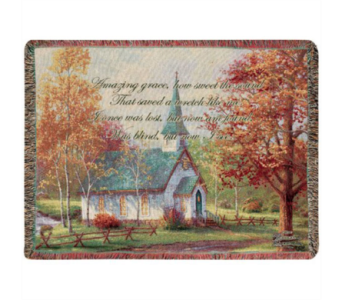 Chapel in the Woods Tapestry Throw  in Hendersonville TN, Brown's Florist
