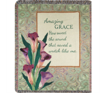 Amazing Grace How Sweet Tapestry Throw in Hendersonville TN, Brown's Florist