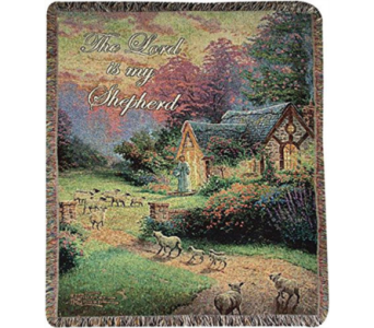 Good Shepherd's Cottage Tapestry Throw in Hendersonville TN, Brown's Florist