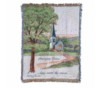 Amazing Grace Tapestry Throw Blanket in Hendersonville TN, Brown's Florist
