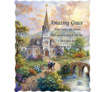 Nicky Boehme Amazing Grace Tapestry Throw in Hendersonville TN, Brown's Florist