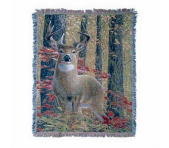 Deer in the Woods Tapestry Throw in Hendersonville TN, Brown's Florist
