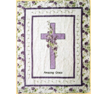 Floral Cross Tapestry Throw in Hendersonville TN, Brown's Florist