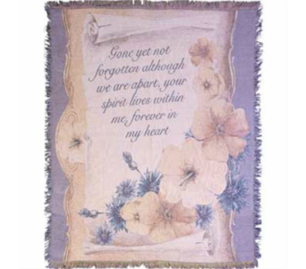 Gone Yet Not Forgotten Tapestry Throw in Hendersonville TN, Brown's Florist