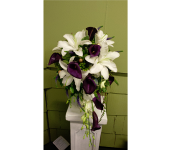 White Lily and Deep Purple Mini Callas in Freehold NJ, Especially For You Florist & Gift Shop
