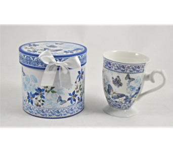 Mugs-Blue Butterflies in Alliston, New Tecumseth ON, Bern's Flowers & Gifts