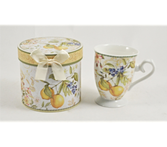 Mugs-Lemons And Berries, Boxed in Alliston, New Tecumseth ON, Bern's Flowers & Gifts