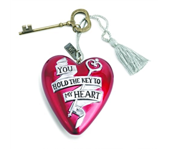 Ornaments-Art Heart, Key To My Heart in Alliston, New Tecumseth ON, Bern's Flowers & Gifts