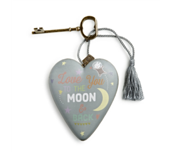 Ornaments-Art Heart, Moon And Back in Alliston, New Tecumseth ON, Bern's Flowers & Gifts
