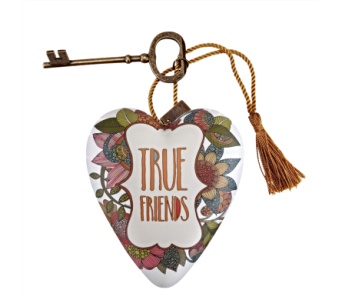 Ornaments-Art Heart, True Friends in Alliston, New Tecumseth ON, Bern's Flowers & Gifts
