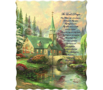 Lord's Prayer on Dogwood Chapel Tapestry Throw in Hendersonville TN, Brown's Florist