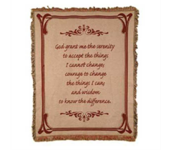 Serenity Tapestry Throw in Hendersonville TN, Brown's Florist